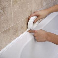 Bathroom Shower Sink Bath Sealing Strip Tape White PVC Self adhesive Waterproof Wall sticker for Bathroom Kitchen. Category: Home Improvement. Home Renovation, Home Remodeling, Bathroom Renovations, Bathroom Wall Stickers, Diy Home Cleaning, Bathtub Cleaning, Bathtub Repair, Cleaning Tips, Diy Home Repair
