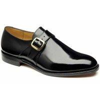Loake Shoes - Paisley - Classic Monk Strap - Black