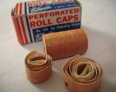 Vintage Man Cave Decor Antique Roll Caps Red by BolstersMills My Childhood Memories, Sweet Memories, School Memories, Retro Toys, Vintage Toys, 1960s Toys, Vintage Man, Vintage Games, Vintage Stuff