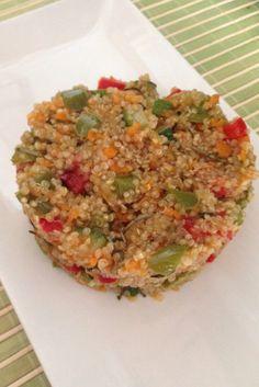 Quinoa con verduras y salsa de soja.