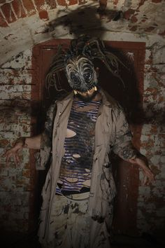 Part of the range inspired by H.P. Lovecraft's stories. The mask was used in the show 'The Providence Horror' by The MIDAS Theatre (based on 'The Case of Charles Dexter Ward).  #scenery #moscow #theater #performance #occult #symbolic #lovecraft #horror #milaevance #midas #nightmare #madness #monsters #darkside #costume