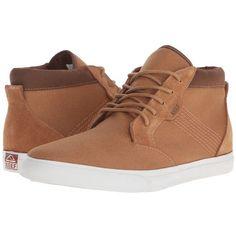 Reef Outhaul (Camel) Men's Lace up casual Shoes ($55) ❤ liked on Polyvore featuring men's fashion, men's shoes, men's sneakers, mens lace up shoes, mens sneakers, reef mens shoes, mens high tops and mens high top sneakers - online mens shoes, boots mens shoes, mens dress work shoes