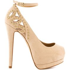 JustFab Women's Naples - Nude ($55) ❤ liked on Polyvore featuring shoes, pumps, heels, sapatos, high heels, zapatos, beige, nude platform pumps, platform pumps and beige peep toe pumps