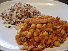 I would say this recipe reminds me a bit of chicken cacciatore and it's one of my favorite ways to make Soy Curls. I find Soy Curls need to be seasoned well and it's nice to have a sauce to […] Low Fat Vegan Recipes, Fat Free Vegan, Clean Recipes, Whole Food Recipes, Vegetarian Recipes, Healthy Recipes, Vegan Meals, Food Dishes, Dishes Recipes