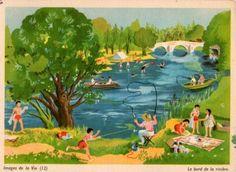 Images de la Vie (12) – Le bord de la rivière by Hélène Poirié