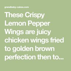 These Crispy Lemon Pepper Wings are juicy chicken wings fried to golden brown perfection then tossed in a sweet, spicy and lemony honey glaze! Making Fried Chicken, Fried Chicken Wings, Chicken Fingers, How To Cook Chicken, Honey Recipes, Great Recipes, Favorite Recipes, Lemon Pepper Chicken Wings, Spicy Wings