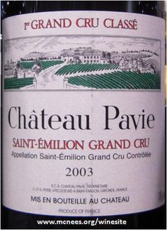 St Emilion, french wine label