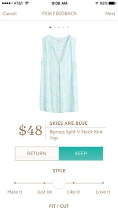 Skies are Blue Byrnes Knit V-neck top