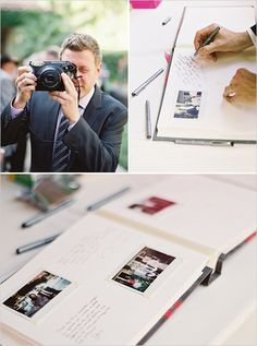 Polaroid guestbook - take picture and put into book and sign/leave message