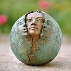 Sculpture of face pearing out of faces by Ostara Sculptures Céramiques, Ceramic Sculptures, Clay Art, Ceramic Art, Sculpting, Street Art, Artsy, Pottery, Artwork