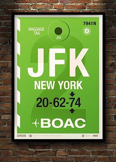 Designer and Illustrator from London, Neil Stevens was inspired by old airline baggage tags and decided to recreate some big prints based on the idea of the tags.