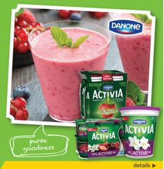 #TalkAboutWhatsNew! We're now carrying brand new Danone Activia Yogurt that is lactose free! All the goodness of Activia now offered in lactose free.