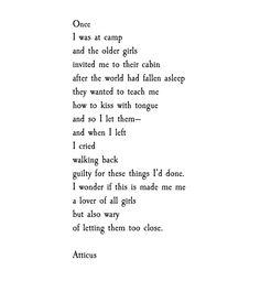 'Camp' #atticuspoetry #atticus #poetry #poem #kiss #loveherwild