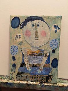 Blue moon Small works show #barbaraolsen