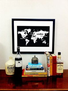 Booze World Poster - awesome for by an in-home bar!