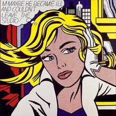 Pop Art - Roy Lichtenstein #pop #art