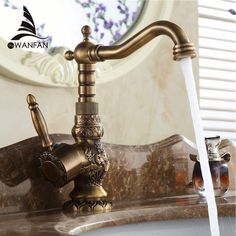 Cheap mixer usb, Buy Quality faucet led directly from China mixer faucet Suppliers: Newly Free Shipping Wholesale And Retail Deck Mounted Vintage Antique Brass Bathroom Sink Basin Faucet Mixer Tap LA10120