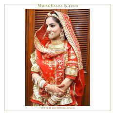 House of Rajasthani Poshak - Yuvti By Bhupendra Singh Rajasthani Bride, Rajasthani Dress, Bengali Bride, Indian Bridal Outfits, Indian Bridal Fashion, Indian Designer Outfits, Wedding Looks, Bridal Looks, Bridal Style