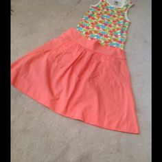"LISTINGskater skirt with pockets. EUC/worn Simple and pretty. Pleated all around the wide waistband. 2 front pockets. Perfect condition. 15"" waist and 21"" length. J. Crew Skirts A-Line or Full"