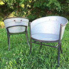 Chairs Made From Galvanized Wash Tubs!