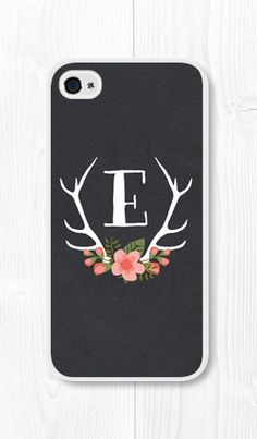 Personalized iPhone Case - Coral Peach Floral Monogram iPhone Case