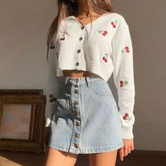 Adrette Outfits, Indie Outfits, Teen Fashion Outfits, Girly Outfits, Korean Outfits, Retro Outfits, Cute Casual Outfits, Stylish Outfits, Teenager Outfits