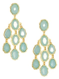 Delight in these stunning statement earrings, which flaunt a cool summertime vibe. They feature a beautiful cascade of chunky blue gemstones, each nicely faceted and bezel-set into hammered silver.