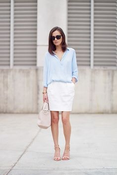 Blue and white | Classy and Fabulous, June 2013