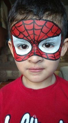 Superhero Face Painting, Face Painting For Boys, Simple Face Painting, Kids Face Paints, How To Face Paint, Cool Face Paint, Mask Face Paint, Mask Painting, Body Painting