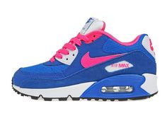 Women's Nike Air Max 90 Sneaker Shoes A  Jogging Shoes Lovers Blue Pink|only US$89.00 - follow me to pick up couopons.