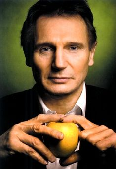Liam Neeson (apparently the best pictures include him holding random pieces of fruit or a flower, for some unknown reason)
