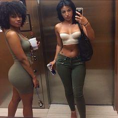 Black girls and Latinas - Body Goals Go Best Friend, Best Friend Goals, Black Girl Magic, Black Girls, Bff Goals, Squad Goals, Bikini, How To Pose, Body Inspiration