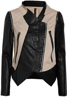 w118 by walter baker miles cotton and faux leather jacket