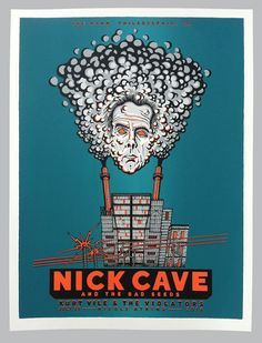 GigPosters.com - Nick Cave And The Bad Seeds - Kurt Vile & The Violators - Nicole Atkins