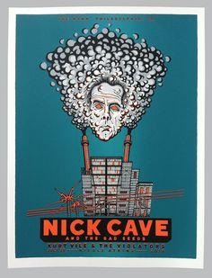 GigPosters.com - Nick Cave And The Bad Seeds - Kurt Vile & The Violators - Nicole Atkins