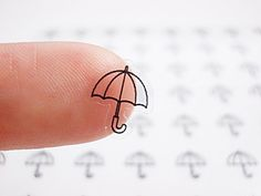 Sweet Umbrella Planner Stickers, Erin Condren Planner Stickers, Happy Planner Stickers, Clear Stickers, Transparent Stickers (st156#) by CENTERPATCH on Etsy