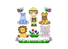 Baby Jungle Animals Clip Art - Boy Safari - Safari Party - Digital Clipart - PNG - JPG - Hand Drawn - Limited Commercial - Instant Download by 641Digital on Etsy https://www.etsy.com/uk/listing/235504191/baby-jungle-animals-clip-art-boy-safari