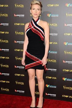 Best dressed - Scarlett Johansson in a Preen dress. Click through to see the best dressed list.