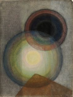 Ivan Kljun, untitled (Space Balls), 1923. Watercolour, pastel & gouache on paper.