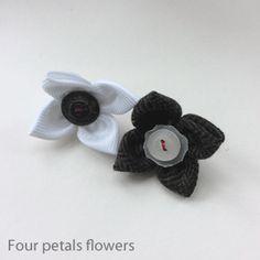 Four petal flowers, lapel flower, lapel pins