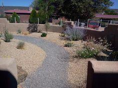 Residential Xeriscape w/ Gravel Pathway
