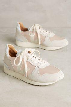 Slide View: 1: Veja Satin Blush Sneakers