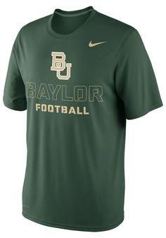 fce0d7184 Baylor Bears Nike T-Shirt - Mens Green Practice Weight Room DriFit T-Shirt