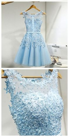 Short Prom Dress,Tulle Prom Dress With Lace Appliques,Appliques Homecoming Dresses,Short Homecoming Dress,Prom Party Dress,Prom Gown