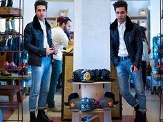 Zara Leather Jacket, Topman Jeans