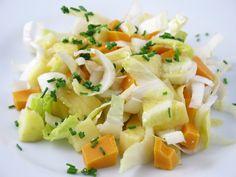 Salade d'endives, pommes et mimolette en 8 minutes seulement