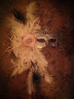 Beautiful masquerade mask prom 2013 vintage shabby chic altered