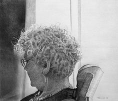 """Portrait Of A Woman"" Robert C. Tracy Pencil on vellum 8.25 x 9.5"" 2009"