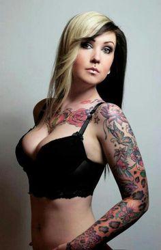 Love the flower tattoos