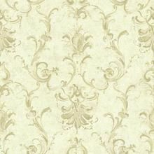 Linen NV6030 Painterly Ornamental Damask Wallpaper
